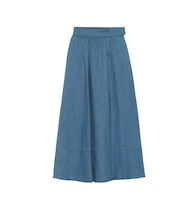 Margaux chambray skirt
