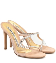 Ava Ghost PVC and suede sandals