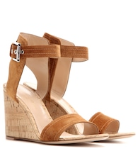 Rikki Mid Wedge suede sandals
