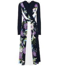 Penelope printed silk dress