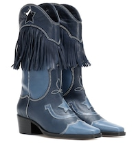 Bottines santiags Texas Fringes cuir