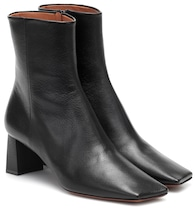 Boomerang leather ankle boots