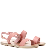Clio metallic leather sandals