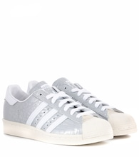 Superstar 80s embossed leather sneakers