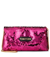 Sequined shoulder bag