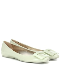 Gommette patent leather ballet flats