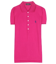 Julie embroidered cotton piqué polo shirt