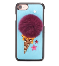 Fur-embellished iPhone 7 case
