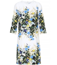 Floral-printed silk minidress