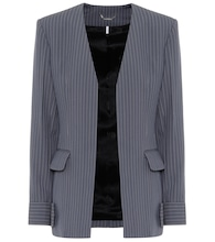Striped virgin wool blazer
