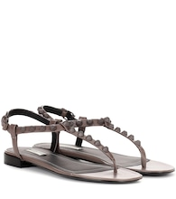 Giant studded leather sandals