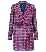 Checked bouclé blazer