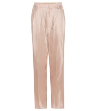 Pantalon en satin de soie Sally