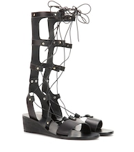 Thebes Wedge leather gladiator sandals