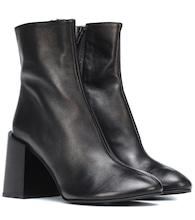 Bottines en cuir Saul Logo