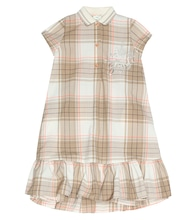Wool-blend checked dress