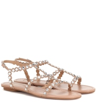 Tequila embellished leather sandals