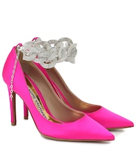 Elsa embellished satin pumps