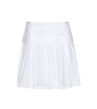 Lakewood perforated cotton skirt