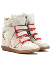 Wila concealed wedge suede sneakers