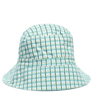 Wembley checked cotton bucket hat