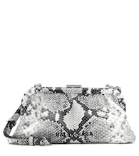 Cloud XS snake-effect leather clutch