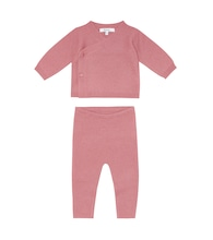 Baby cashmere top and pants set