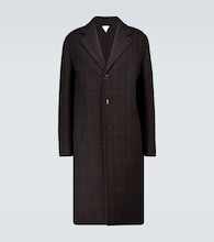 Checked double-faced wool coat