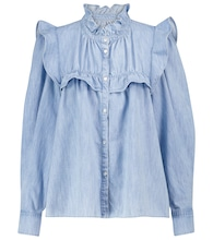 Idety ruffled denim blouse