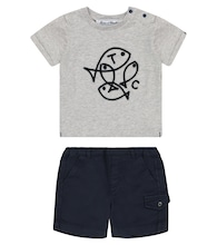 Baby cotton T-shirt and shorts set