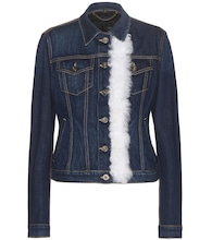 Veste en denim avec shearling
