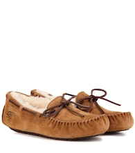 Dakota shearling-lined suede moccasins
