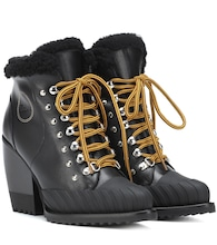Rylee leather and shearling boots