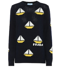 Wool and cashmere intarsia sweater