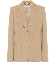 Eleanor single-breasted twill blazer
