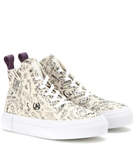 Odyssey canvas high-top sneakers