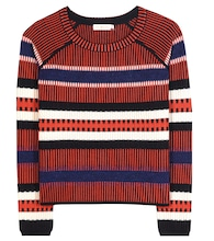 Monterey striped wool-blend sweater