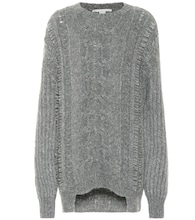 Alpaca and wool-blend sweater