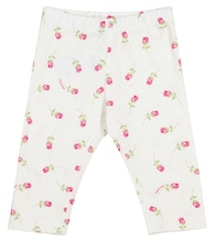 Baby floral stretch-cotton leggings