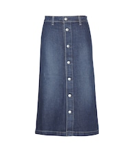 Cool denim midi skirt