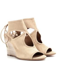 Sexy Thing wedge suede sandals