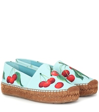 Exclusive to Mytheresa – cherry printed espadrilles