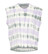 Dena tie-dye cotton crop top