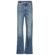 Isabella high-rise straight jeans