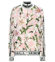 Floral stretch cady track jacket