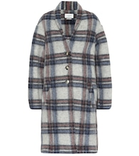 Gabriel checked wool-blend coat