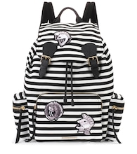 The Medium Rucksack striped backpack