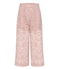 Lace wool and silk culottes