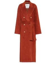 Mohair and wool-blend coat