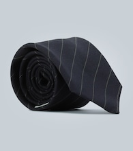Diagonal striped tie